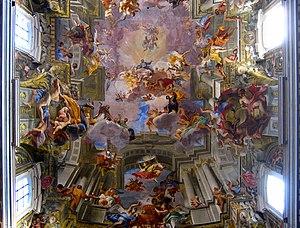 Anamorphosis - Image: Sant'Ignazio affresco soffitto antmoose