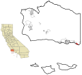 Santa Barbara County California Incorporated and Unincorporated areas Carpinteria Highlighted.svg