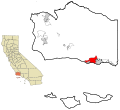 Santa Barbara County California Incorporated and Unincorporated areas Goleta Highlighted.svg