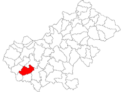 Location of Santău