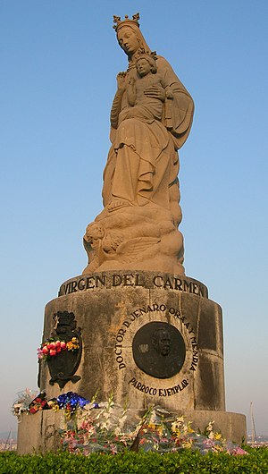 Statue of Our Lady of Carmel, patron Marian ad...