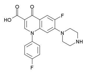 Sarafloxacin - Image: Sarafloxacin