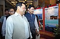 "Sarbananda Sonowal and the Minister of State for Information & Broadcasting, Col. Rajyavardhan Singh Rathore visiting the exhibition at the inauguration of the Three-day North East Film Festival on the theme of ""Fragrances.jpg"