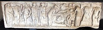 Phaedra (mythology) - Sarcophagus – death of Fedra, 2nd century, Santa Maria delle Vigne, Genoa
