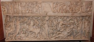 "Endymion (mythology) - Gallo-Roman ""Endymion"" sarcophagus, early 3rd century (Louvre)"
