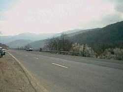 Savadkooh road spring of 2003.jpg