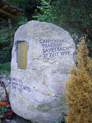 Saxetenbach Gorge - Memorial to the 21 dead in Wilderswil