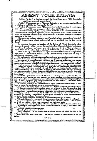 Schenck v. United States - Reverse