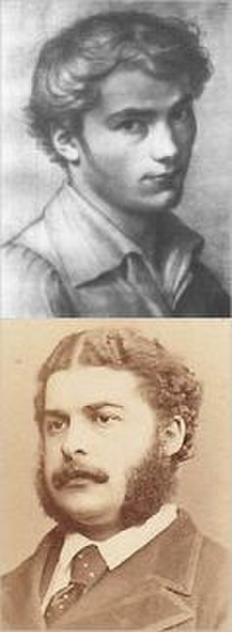 George Grove - Franz Schubert (top), whose music Grove and Arthur Sullivan (below) rediscovered in 1867