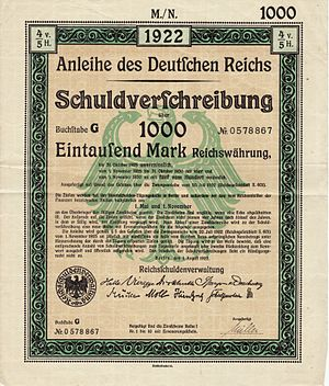 Bond (finance) Germany 1922-08-01