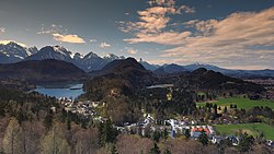 Hohenschwangau seen from Neuschwanstein Castle