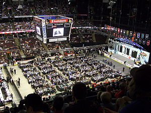 2008 NHL Entry Draft - Stage and team tables at Scotiabank Place