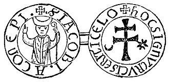 Jacques de Vitry - Seal of Jacques de Vitry as bishop of Acre.