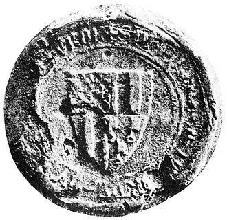 Philip of Majorca - Philip's seal as treasurer of Tours