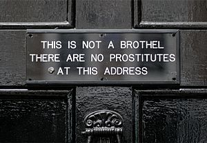 Meard Street - Sign at the entrance to the home of Sebastian Horsley