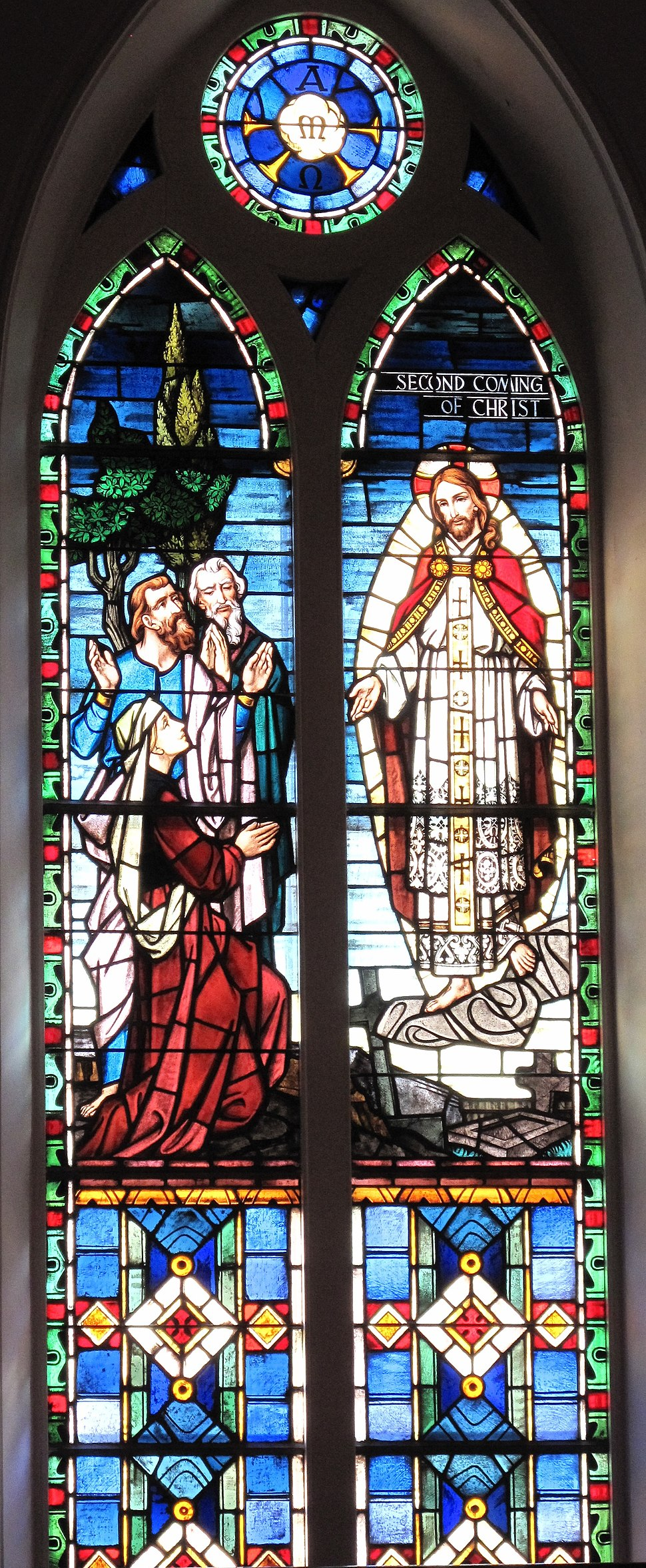 Second Coming of Christ window