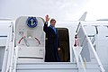 Secretary Kerry Waves Goodbye Following Visit to Switzerland For Iranian Nuclear Negotiations (16098500073).jpg