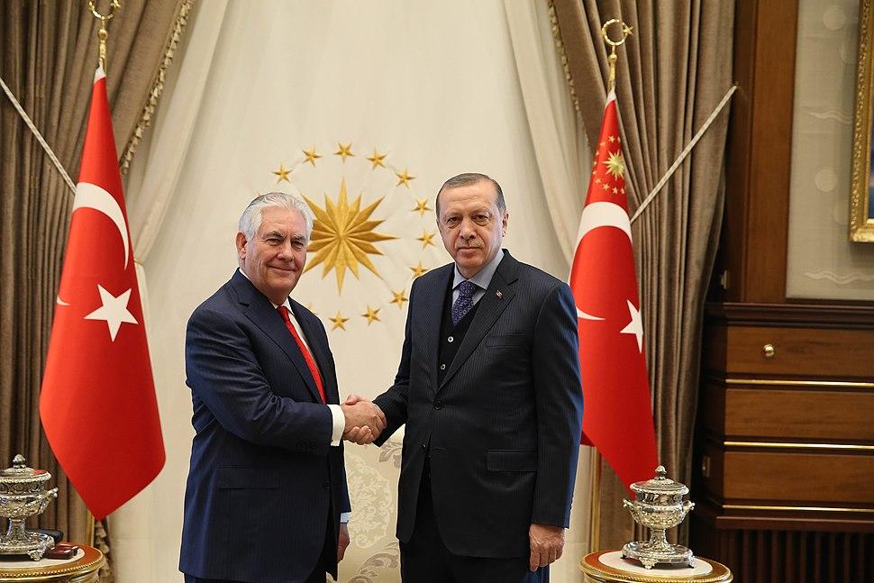 Secretary Tillerson Meets with Turkish President Erdogan in Ankara (32921677663)