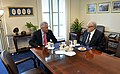 Secretary of Defense Chuck Hagel, left, meets with Ambassador Lakhdar Brahimi, the Joint Arab League-UN Special Representative for Syria, in Hagel's Pentagon office on April 29, 2013 130429-D-NI589-018.jpg