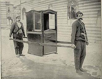 Litter (vehicle) - A Turkish tahtırevan, 1893.