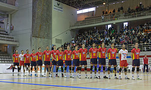 Spain men's national volleyball team - Spain men's national volleyball team in late 2013.