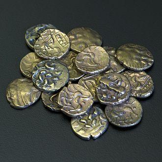 Walkington - Selection of Corieltauvi Celtic coins from the Walkington Hoard
