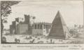 Sepolcro e Piramide di C. Cestio ristaurata da N. S. Papa Alesandro VII by Giovanni Battista Falda (1665).png