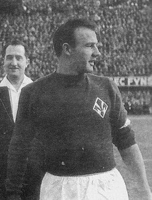 Sergio Cervato - Fiorentina captain Cervato in the late 1950s