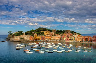 Italian Riviera - Image: Sestri Levante and Baia del Silenzio, the Bay of Silence