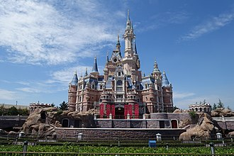 Enchanted Storybook Castle of Shanghai Disneyland Shanghai disneyland castle.jpg