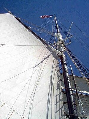 Shenandoah (schooner) - Image: Shenandoah's sails