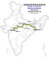 Shipra Express (Indore - Howrah) Route map.jpg