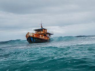 Cayos Limones - Shipwreck near Chichimen Island, Cuyos Limones, Guna Yala, Panama.