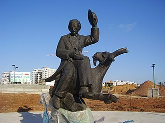Sholem Aleichem - Sholem Aleichem statue in Netanya, Israel, sculpted by Lev Segal
