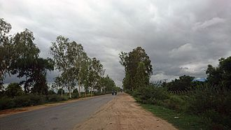 Shwebo - A view of Shwebo-Myitkyina Highway Road