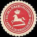 Siegelmarke Herzoglich Br. L. Finanz - Collegium Abtheilung für Leihhaus - Sachen W0210683.jpg