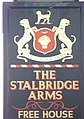 Sign for the Stalbridge Arms, Stalbridge - geograph.org.uk - 703741.jpg