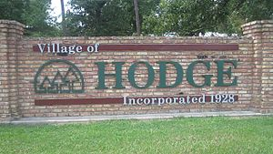 Hodge, Louisiana - Hodge welcome sign