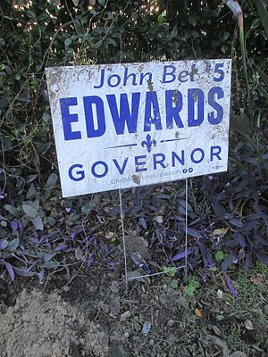 Louisiana gubernatorial election, 2015 - Sign for John Bel Edwards