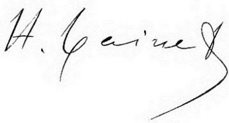 Signature of Hippolyte Taine