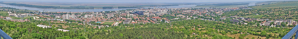 A panorama of Silistra and the Danube