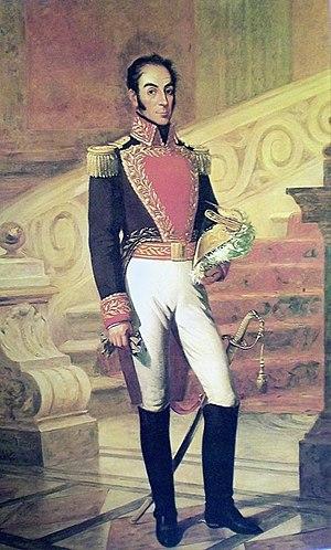 Portrait of Simón Bolívar by Martín Tovar y Tovar.