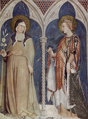 Clare of Assisi - Image: Simone Martini 049