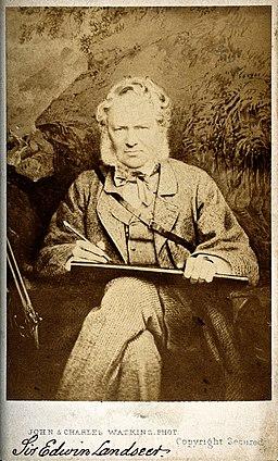 Sir Edwin Landseer. Photograph by John & Charles Watkins. Wellcome V0028607