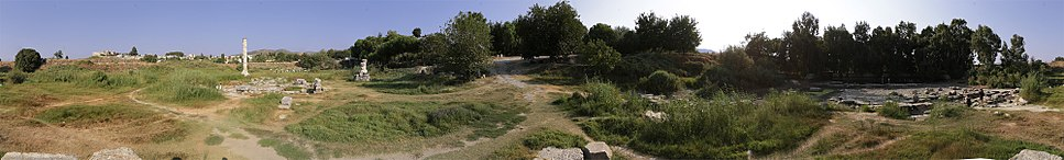 A 360 degree panoramic view of the site of the temple