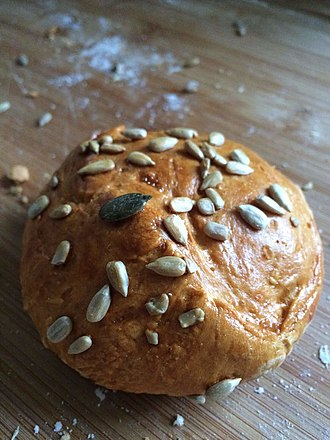 Small home made bread with pumpkin and sunflower seeds Small home made bread with pumpkin and sunflower seeds.jpg
