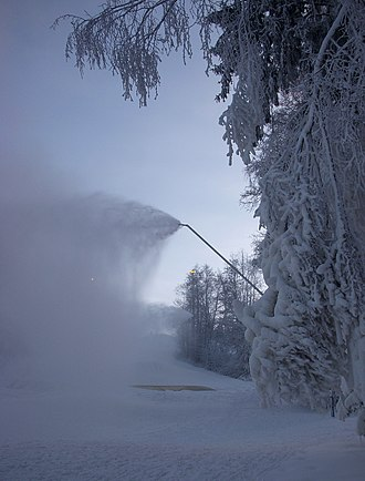 Snowmaking - Snow Lance used at Flottsbro in Stockholm