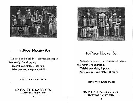 Old picture of plain kitchen glassware