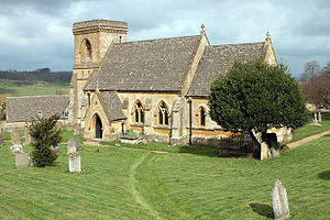 Snowshill - Image: Snowshill St Barnabas Church(Philip Halling)Apr 2006