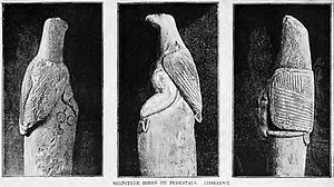 Zimbabwe Bird - Three of the Zimbabwe Birds, photographed around 1891